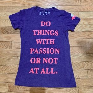 Glamour Kills (GLMR KLLS) Purple Quote Tshirt